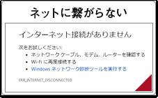 ネットに繋がらない